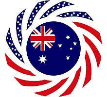 Australian American Multinational Patriot Flag Series Photographic Print