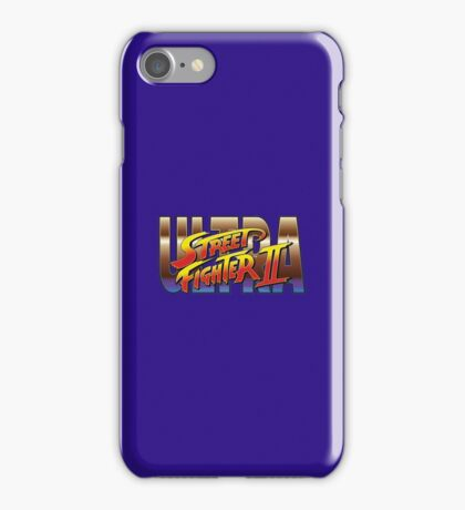 Ultra Street Fighter II 2 HD logo iPhone Case/Skin