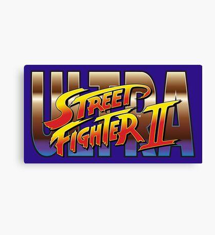 Ultra Street Fighter II 2 HD logo Canvas Print
