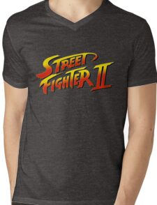 Street Fighter II 2 HD logo Mens V-Neck T-Shirt