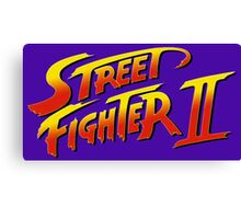 Street Fighter II 2 HD logo Canvas Print