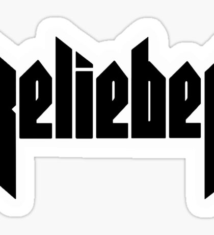 Belieber - Gold Marble Sticker