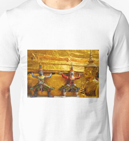 Gardians of the Grand Palace in Bangkok Thailand Unisex T-Shirt