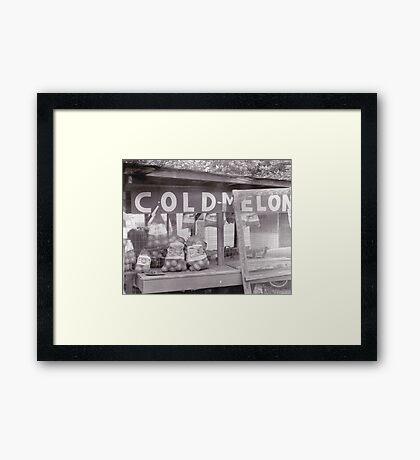 Vintage Fruit Stand Photo Framed Print