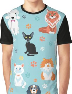 Cats and dogs Graphic T-Shirt
