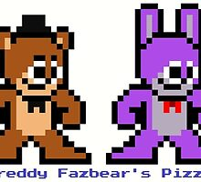 8-bit Five Night's at Freddy's by groundhog7s