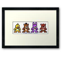 8-bit Five Night's at Freddy's Framed Print