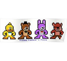 8-bit Five Night's at Freddy's Poster