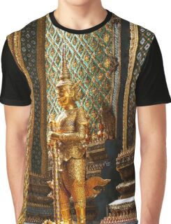 Mythical Giant Guardian (Yak) at Wat Phra Kaew, Thailand Graphic T-Shirt