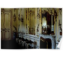 Drawing room where 6 yr old Mozart played Schonbrunn Palace Vienna Austria 19840803 0012 Poster
