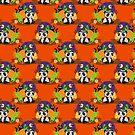 Halloween Panda Pattern by SaradaBoru