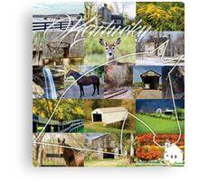 Kentucky Collage Canvas Print