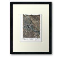 USGS TOPO Map Colorado CO Canon City 20100913 TM Framed Print