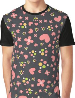 Cute pattern with hearts Graphic T-Shirt
