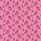 Mitten Kitten Pink Pattern by SaradaBoru
