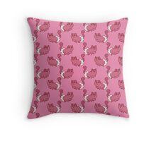 Mitten Kitten Pink Pattern Throw Pillow