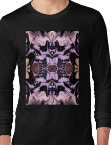Blue Goth Psychedelia Long Sleeve T-Shirt