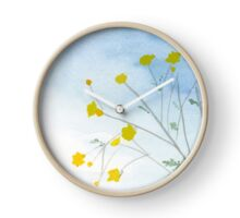 Simple Flowers Watercolor Painting Art Print Fine Art Print from Watercolor Painting Watercolor Wall art Clock