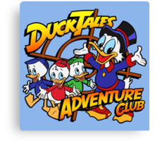 DuckTales Adventure Club Canvas Print