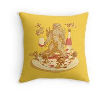 Spaghetti vs Meatballs Throw Pillow