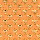 Orange Fruit Turtle Pattern by SaradaBoru