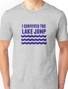 Lake Jump in blue Unisex T-Shirt