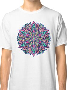 Colorful bright Complicated Mandala. Tribal style. Classic T-Shirt