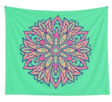 Colorful bright Complicated Mandala. Tribal style. Wall Tapestry