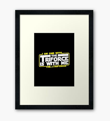 Triforce is with me! Framed Print