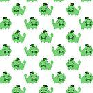 St. Patrick's Day Cat Pattern by SaradaBoru