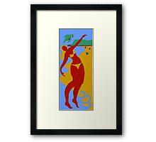 Gold Coast Red Bikini Girl Framed Print