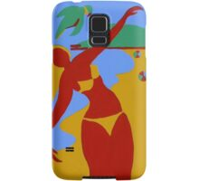 Gold Coast Red Bikini Girl Samsung Galaxy Case/Skin