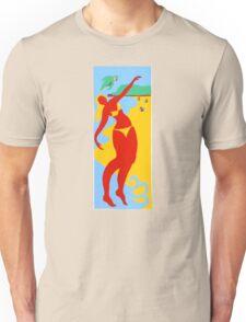 Gold Coast Red Bikini Girl Unisex T-Shirt