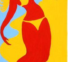 Gold Coast Red Bikini Girl Sticker