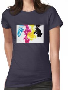design cool encre ink Womens Fitted T-Shirt
