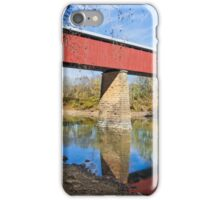 Long Red Covered Bridge iPhone Case/Skin