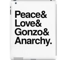 Peace & Love & Gonzo & Anarchy iPad Case/Skin