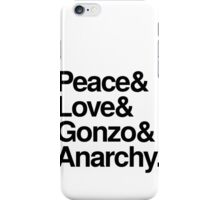 Peace & Love & Gonzo & Anarchy iPhone Case/Skin