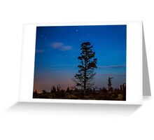 Night Scapes/Redmond Greeting Card