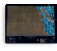 USGS TOPO Map California CA San Francisco 302114 1957 250000 geo Inverted Canvas Print