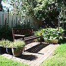 Garden bench by Maggie Hegarty