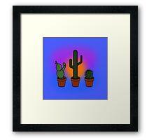 Cacti Pals Framed Print