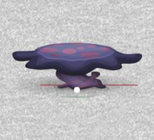 Glitch furniture coffeetable violet voyage coffee table One Piece - Long Sleeve
