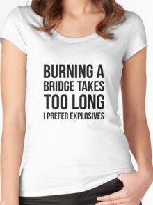 Burning Bridges Women's Fitted Scoop T-Shirt