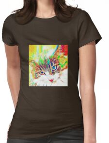 Cat Trip Womens Fitted T-Shirt