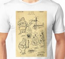 Santa Claus Bank Support Patent Drawing From 1953  Unisex T-Shirt