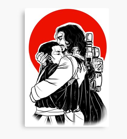 Warrior and the Monk Canvas Print