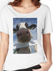 Up Close Of A Cow Women's Relaxed Fit T-Shirt