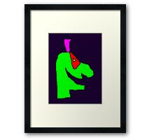 Weird green guy Framed Print