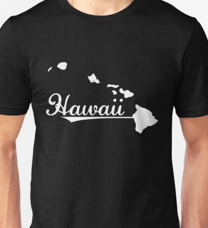 Hawaii Map Funny Hawaii Shirt Unisex T-Shirt